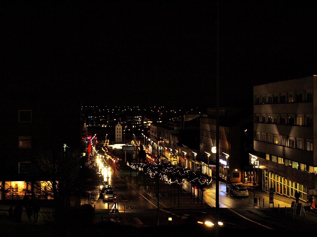 City center, seen from the top of Thorsbakken, December 2013.