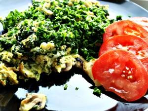 Røræg med champignon